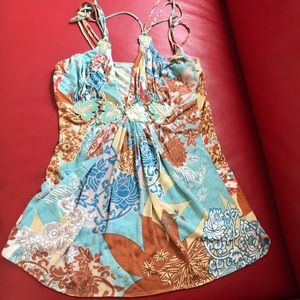 XS Sky top no tags good condition stretchy